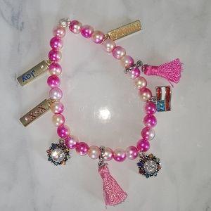 Handmade Beaded Bracelet with Charms
